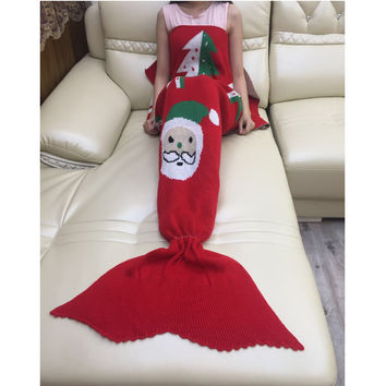 Mermaid Party to Be Adored Blanket Red