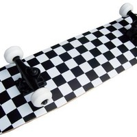 KPC Pro Skateboard Complete, Black and White Checker