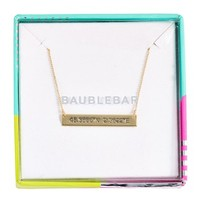 Women's BaubleBar Coordinate Bar Pendant Necklace - Gold/