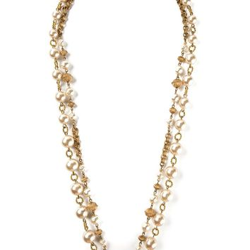 Yves Saint Laurent Vintage two raw sautoir necklace