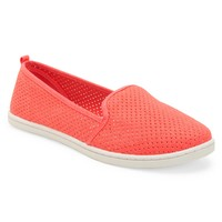 Aeropostale Womens Perforated Canvas Slip-On Shoes - Neon,