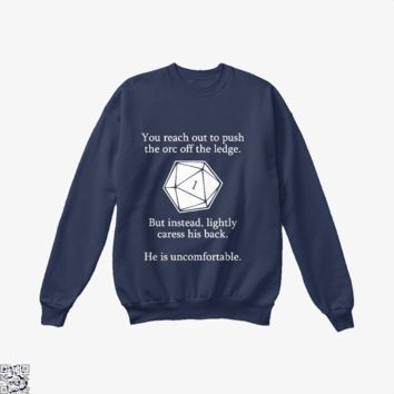 Dungeons And Dragons D20 Roll, Dragon And Dungeon Crew Neck Sweatshirt
