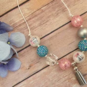 Breast Cancer Chunky Necklace