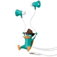 Phineas And Ferb Agent-P Earbuds: Toys & Games