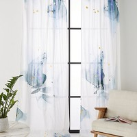 Watercolor Garden Curtain