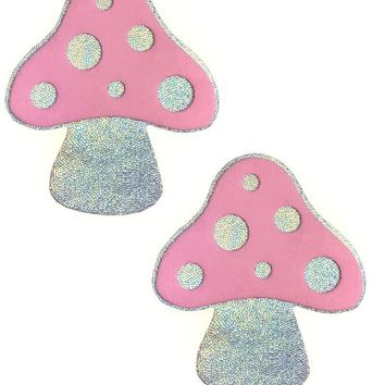 Mushroom Pasties in Light Pink