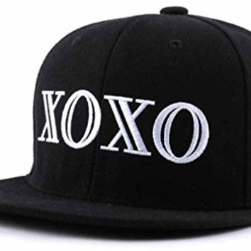 sujii XO XO Hip Hop Boys Snapback Hat Trucker Baseball Cap/Black