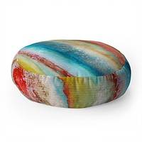 Viviana Gonzalez AGATE Inspired Watercolor Abstract 01 Floor Pillow Round