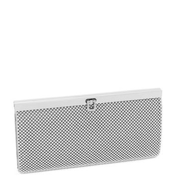 La Regale Beaded Mesh Wallet Clutch