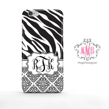 Zebra Loopy Damask iPhone 6s Case, iPhone 6 Case Series