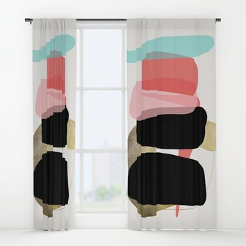 Modern minimal forms 1 Window Curtains by naturalcolors