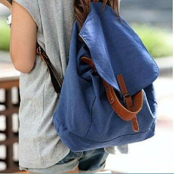 On Sale Casual Hot Deal College Stylish Comfort Back To School Korean Vintage Canvas Backpack [6580919303]
