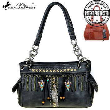 MW394G-8085 Montana West Native American Concealed Carry Satchel