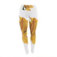 "Lydia Martin ""Yellow Tulip"" Yoga Leggings"