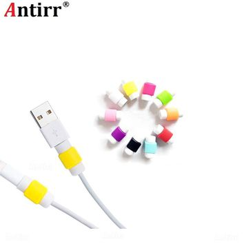10pcs Cute USB Cable Protective Sleeve Saver Earphone Protection Wire Cover 8 Pin Data Charger line Protector For Apple iphone
