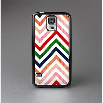 The Vibrant Fall Colored Chevron Pattern Skin-Sert Case for the Samsung Galaxy S5
