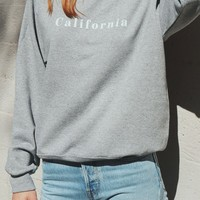 California Oversized Sweatshirt - Grey