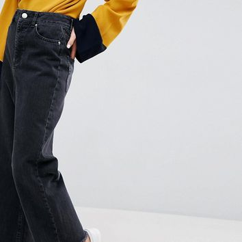 ASOS WIDE LEG Jeans in Ashes Black Wash at asos.com