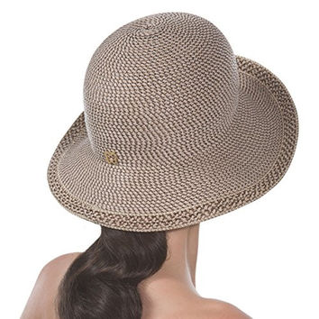 Eric Javits Designer Women's Luxury Becca Hat (Bark)
