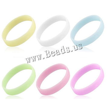 New fashion Elastic Rubber wristband silicone bracelets hot sale