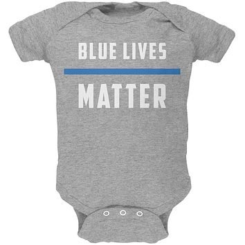 Police Blue Lives Matter Thin Blue Line Soft Baby One Piece