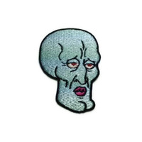 Iron on Handsome Squidward embroidered patch by ThatsWhatINeeded