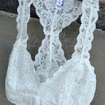 LACE BRALETTE TOP - WHITE