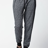 Nollie Zipper Speckle Jogger Pants - Womens Pants - Black