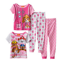 Toddler Girl Paw Patrol Chase, Marshall, Rubble & Skye 4-pc. Pajama Set