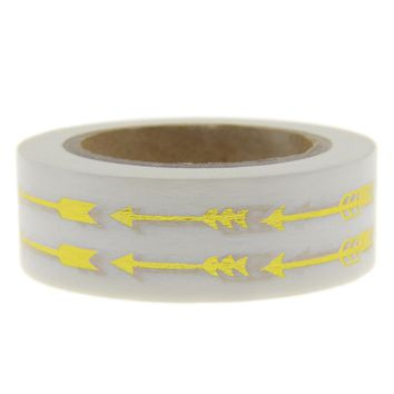 New! Arrow Gold Foil Washi Tape Adhesive Scrapbooking Tools Christmas Party Kawaii Cute Photo Album Decorative Paper Crafts