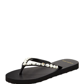 Tory Burch Pearlescent Flat Flip Flop | Neiman Marcus