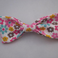 Flower Summer Hair Bow, Hair Accessories, Flower Bow, Hair Bow + Matching Earring Sold Separately
