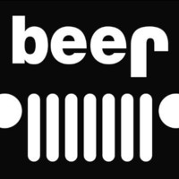 "Jeep Funny beer Die Cut Vinyl Decal Sticker 6"" White"
