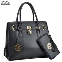 MMK collection Women Fashion Matching Satchel handbags with wallet(02-2526)~Designer Purse for Women ~ Perfect Women Purse and wallet~ Beautiful Designer Handbag Set