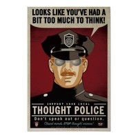 Thought Police Poster from Zazzle.com