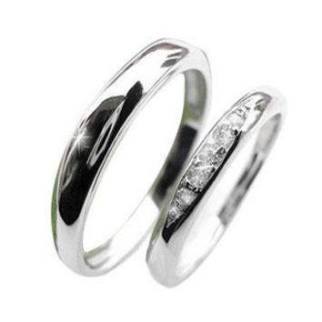 Smooth Silver Couples Rings .925 Sterling for HER Silver Platinum Jewelry-Size 8