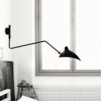 The Chief Architect's Matte Black Tripod Shade Wall Sconce Lamp (FREE Worldwide Shipping)