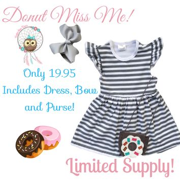 RTS Donut Miss Me Dress Set! All 3 Pcs For 1 Low Price! D7
