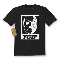 TGIF Jason Hockey Mask Kids T-shirt