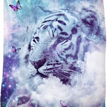 White Tiger - Soft Fleece Blanket