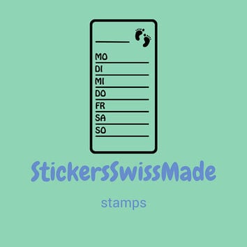 PLANNER STAMPS | step counter | 30x60mm || for your planner and bullet journals || self inking ||easy to use || days of the week in german