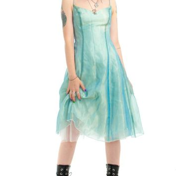 Vintage 90's Seafoam Princess Dress - XS/S