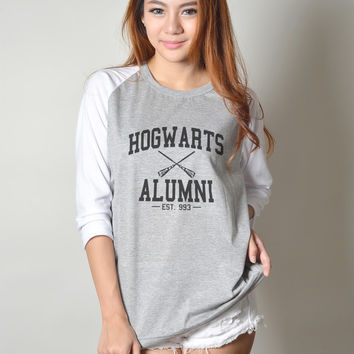 Harry Potter Hogwarts Alumni Shirt Women Baseball Jersey Raglan Sleeves T Shirts