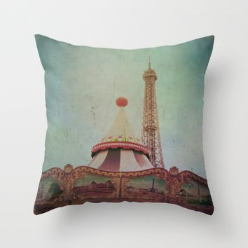 Bohemia of Paris Throw Pillow by Victoria Herrera
