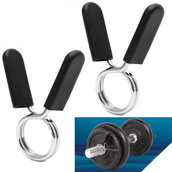 2Pcs 30mm buckle clip Barbell Gym Weight Lifting Bar Dumbbell Lock Clamp Spring Collar Clips