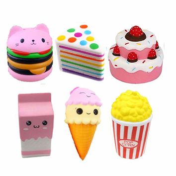 Squishy Slow Rising Jumbo Soft Milk Cake Ice Cream Scented Squeeze Toys Squishes