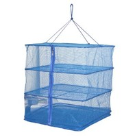 3 Tray Hanging Drying Net, Food Dehydrator - Natural Way to Dry Food as Fruits, Vegetables and more (20x20x21.6(H) inch)