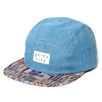 Quiet Life: Liberty Madras 5 Panel - Light Denim Upper