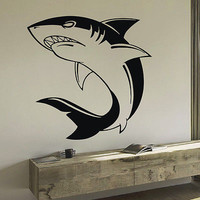 WALL DECAL VINYL STICKER ANIMAL PREDATOR SHARK SEA OCEAN DECOR SB471