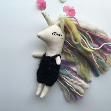 Mini Doll Clothing - Crocheted Alpaca Romper for Liberty Lavender Dolls Unicorn or Pegasus (Doll sold separately)